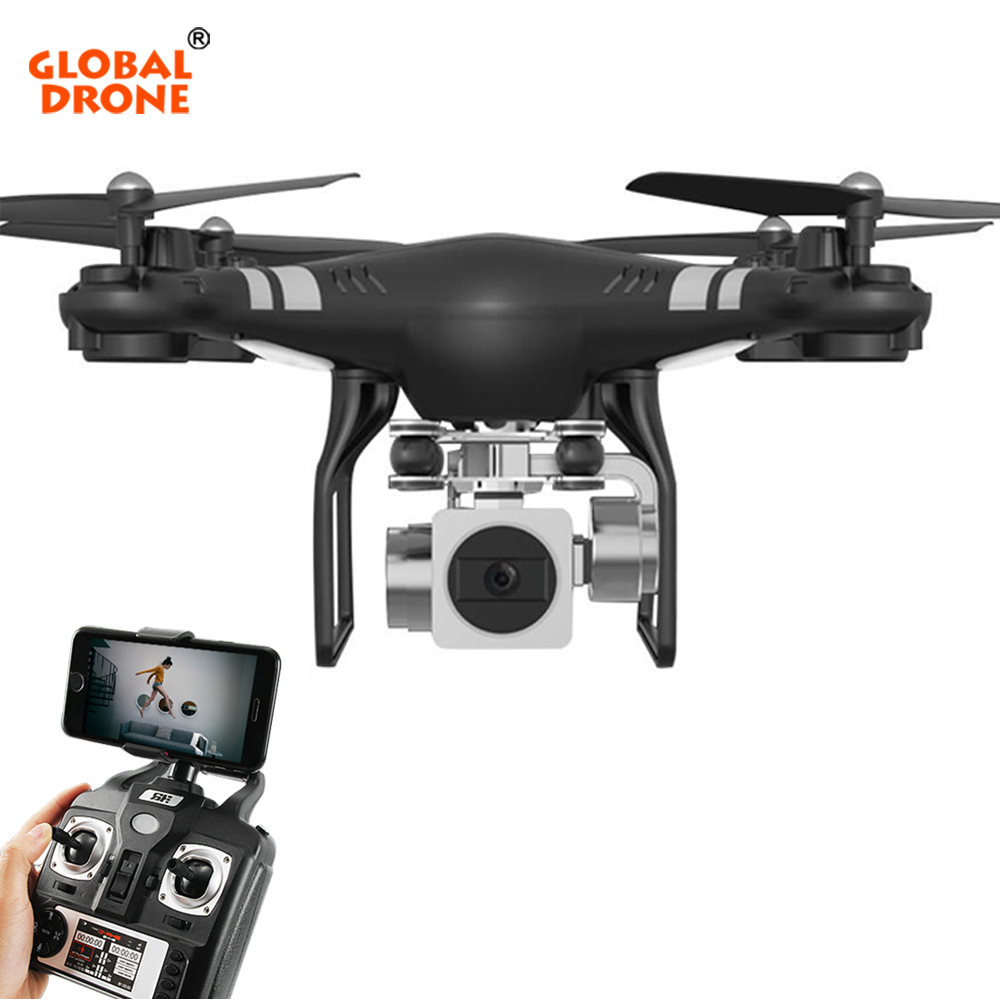 Global Drone RC Quadcopter Hover Wifi FPV Dron Headless Mode One Key Return Drones with Camera Wide Angle 1080P HD VS syma x5
