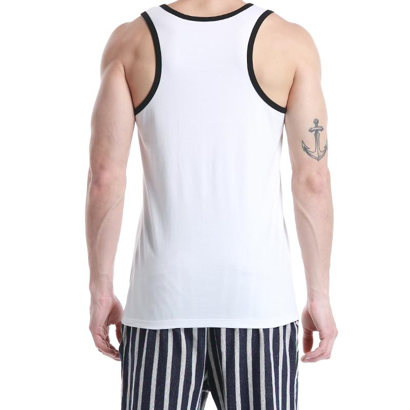 New seobean Men 39 s Cotton Tank Tops Sleeveless O Neck Tank Top Summer Vest Casual Tank Top Singlets in Tank Tops from Men 39 s Clothing
