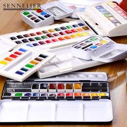 Sennelier/shennelier miód akwarela pigmentu z francji 36 kolor Student artysta stałe akwarela