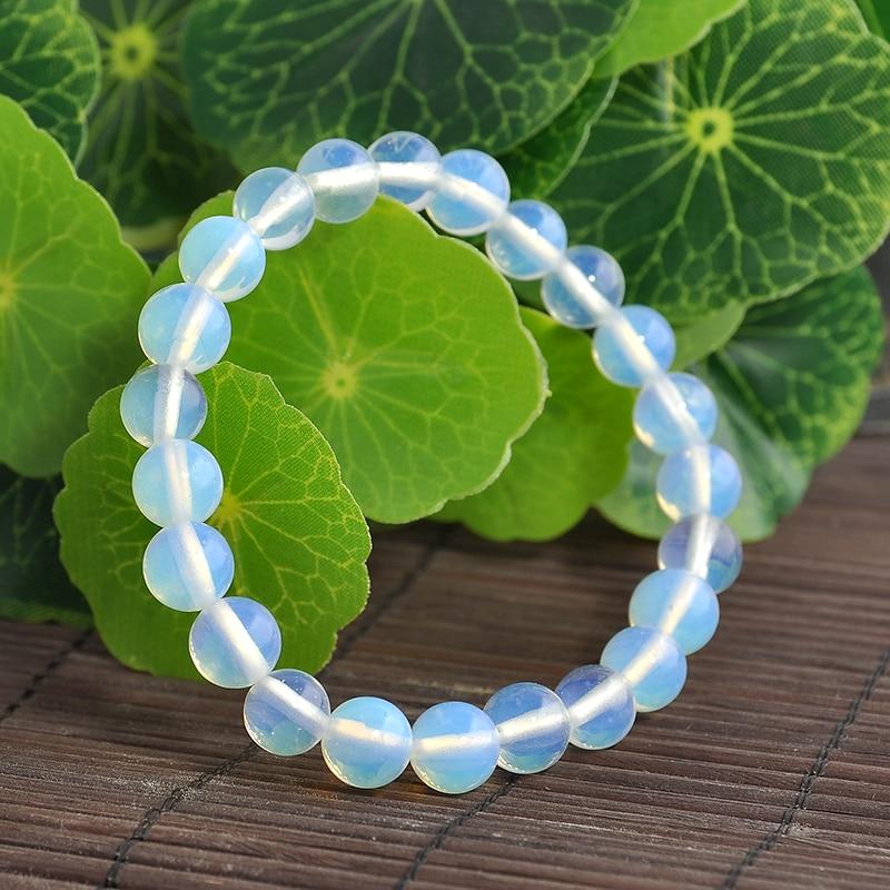 New Fashion Natural Opal Stones Buddha Pendant Beads Bracelet For Women Men Bracelet free shipping