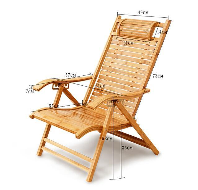 Foldadble Bamboo Garden Chair  2