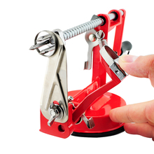 High Quality 3 in 1 Stainless Steel Fruit Apple Zester Pear Peeler Corer Slicer Suction Base Red Free Shipping Dropshipping