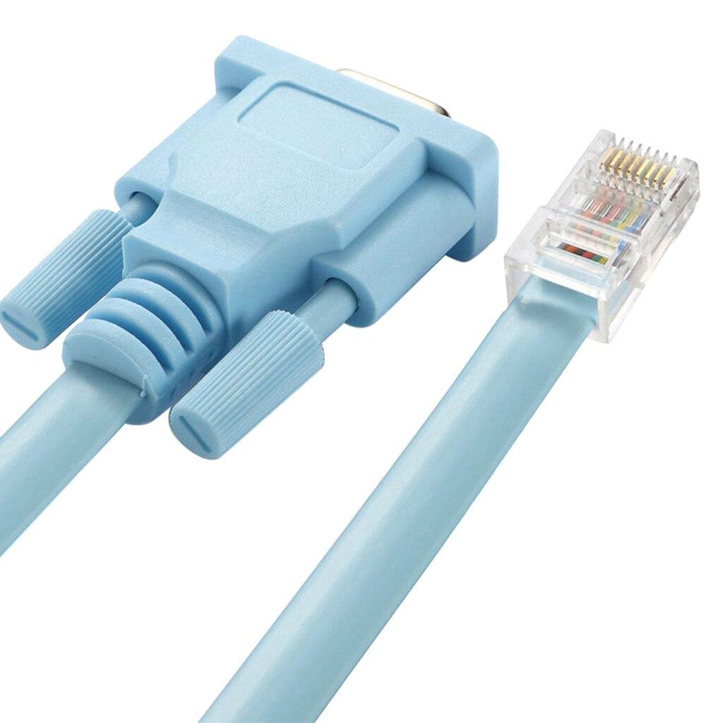 Cat5 Ethernet для Rs232 DB9 COM Последовательный порт Женский кабель Высокое качество RJ 45 к БД сетевой адаптер Синий 1,5 м 5Ft Mayitr 0508