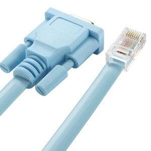 Image 1 - Cat5 Ethernet a Rs232 DB9 puerto COM en serie hembra Cable de alta calidad RJ 45 a DB adaptador de red azul 1,5 m 5Ft Mayitr 0508
