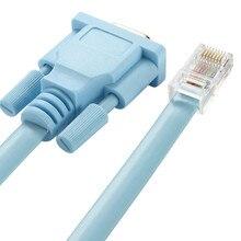 Cat5 Ethernet do Rs232 DB9 COM Port szeregowy żeński kabel wysokiej jakości RJ 45 do DB adapter sieci Blue 1.5 m 5Ft mayitr 0508