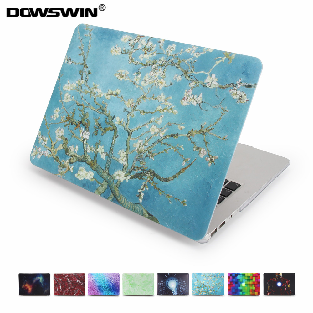 for macbook 13 inch case,dowswin print pattern cover for macbook air case for macbook pro retina with matte keyboard protector hat prince usa flag pattern protective full body matte case for macbook air 13 3 blue red
