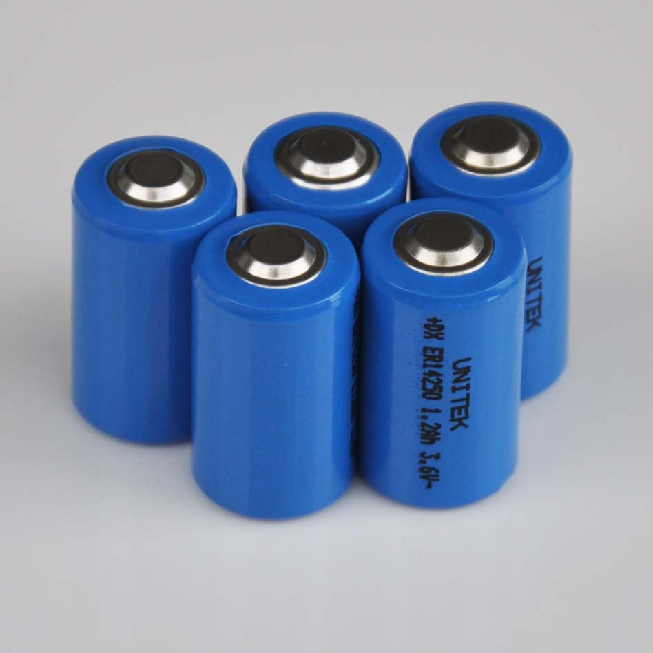 5PCS ER14250 <font><b>1</b></font>/2AA <font><b>3.6V</b></font> liSOCL2 <font><b>Lithium</b></font> <font><b>battery</b></font> <font><b>1</b></font>/<font><b>2</b></font> <font><b>AA</b></font> 14250 PCL dry primary cell 1200mah water meter replace for SAFT LS14250 image