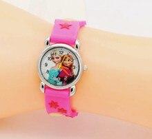 Дети мультфильм принцесса часы кварцевые Для женщин часы мультфильм часы детей Relojes Mujer Мода 2017 г.