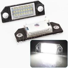 MZORANGE 2Pcs No Error LED Car Number License Plate Light Lamp For Ford Focus MK2/C-Max MK1