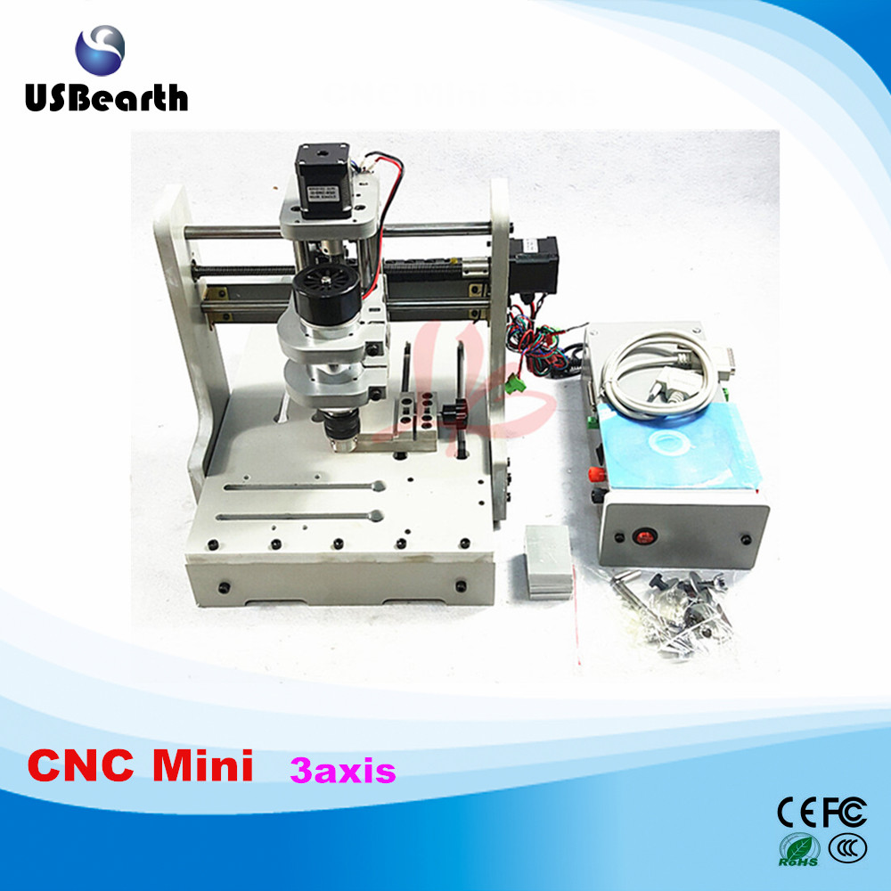 DIY Mini 3axis cnc router Engraving Drilling and Milling Machine for woodworking cnc router engraving machine diy 2520 4axis engraving drilling and milling machine with rotary axis no tax to ru