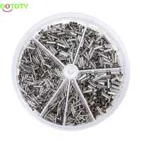 Round Box 1900pcs Insulated Bare Copper Crimp Wire Connector Cord Pin End Uninsulation Terminal 0.5-2.5mm 828 Promotion