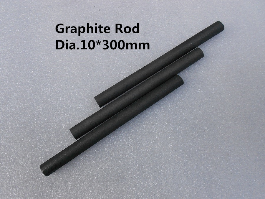 Graphite Rod Dia.10*300mm for graphite stick stir rod for gold casting crucible,precious metals / FREE SHIPPING 3pcs dia 200 20mm carbon graphite round plate graphite stir rod melting gold silver stirring rod graphite for mixing silver