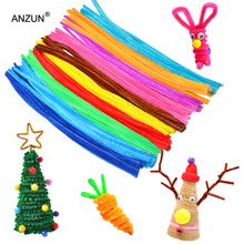 цена на 100pcs 6mm x 300mm Chenille Stems Twist Wire Stems Pipe Cleaners Children Handmade Education Chenille Craft