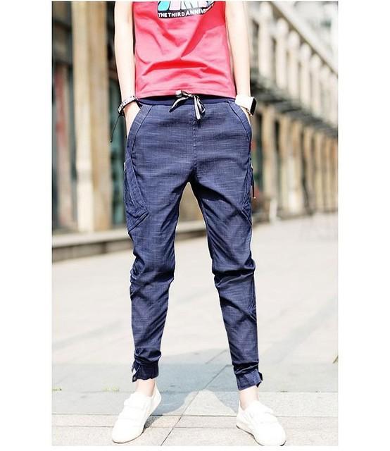 Envío gratis Nuevo hombres de Corea Baggy Cargo Harem Pantalones Vaqueros de Los Hombres trajes Pantalones casual 3 colores disponibles Tamaño Ml XL XXL