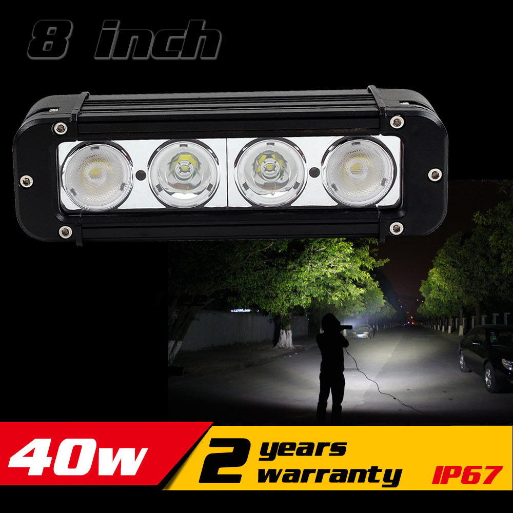 8inch 40W LED Work Light Bar for Tractor ATV Motorcycle LED Bar Offroad 4X4 Fog light External LED Work Light Seckill 36w