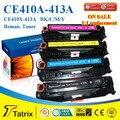 Бесплатная доставка CE410A CE411A CE412A CE413A для HP тонер картридж, Цена от производителя оптовая продажа с 2 года гарантии