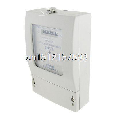 AC 220V 380V 5A Three Phase Four Wires Electronic Energy Meter New free shipping sdm630 modbus rs485 din rail kwh three phase energy meter 100a solar pv energy meter rtu digital meter