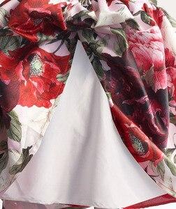 Image 5 - ファッション花の女の子のパーティードレス赤綿子供子供ドレスゴールデンクラウン弓女の子の服パーティー結婚式