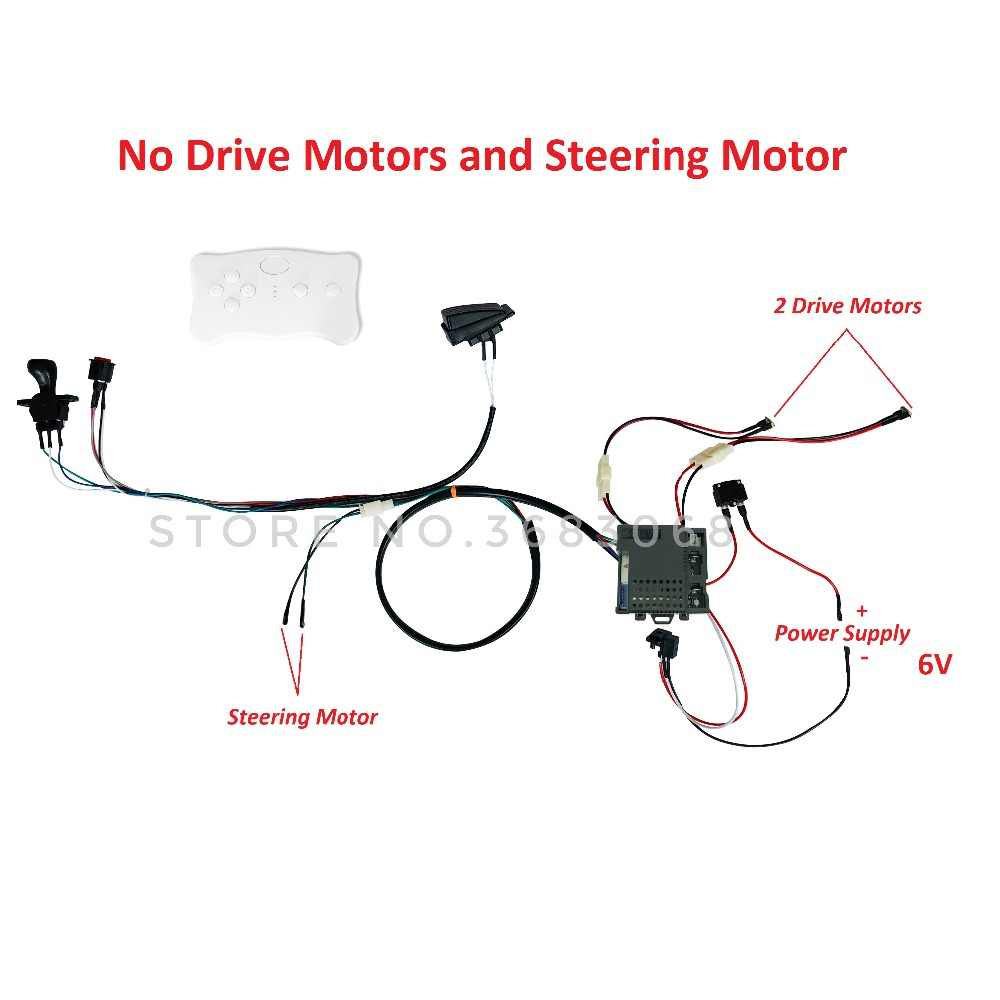 small resolution of  children electric car diy modified wires and switch kit with 2 4g bluetooth remote control