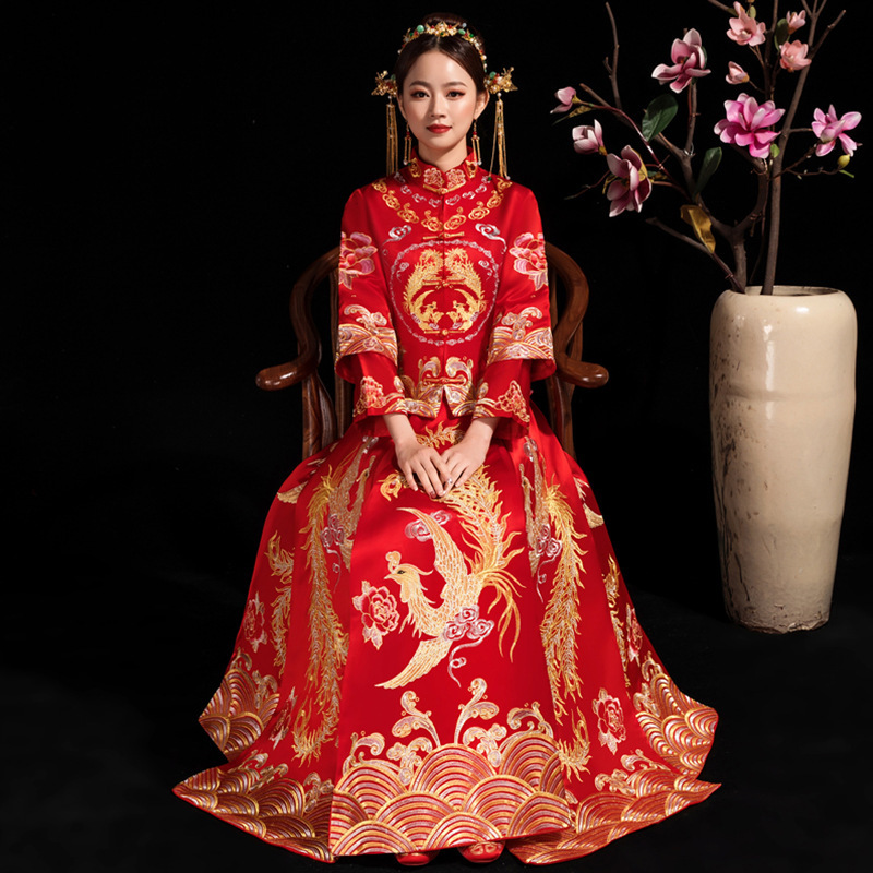 Plus Size 6XL Chinese Traditional Wedding Dress Cheongsam Embroidery Oriental Style Dresses China Clothing Store Vestido Chino
