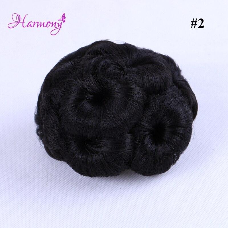 Curly Hair Bride Makeup Bun Blommor Chignon Claw på Ponytail - Hårvård och styling - Foto 3