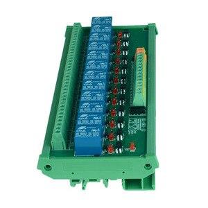 Image 3 - 12 kanal Trigger Spannung Relais Modul PLC realy modul optokoppler relais modul din schiene montage. PLC control modul