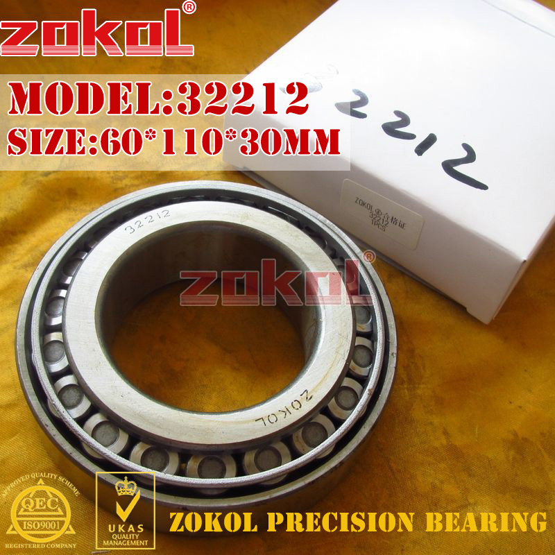 ZOKOL bearing 32212 7512E Tapered Roller Bearing 60*110*30mm zokol bearing 31310 27310e tapered roller bearing 50 110 29 5mm