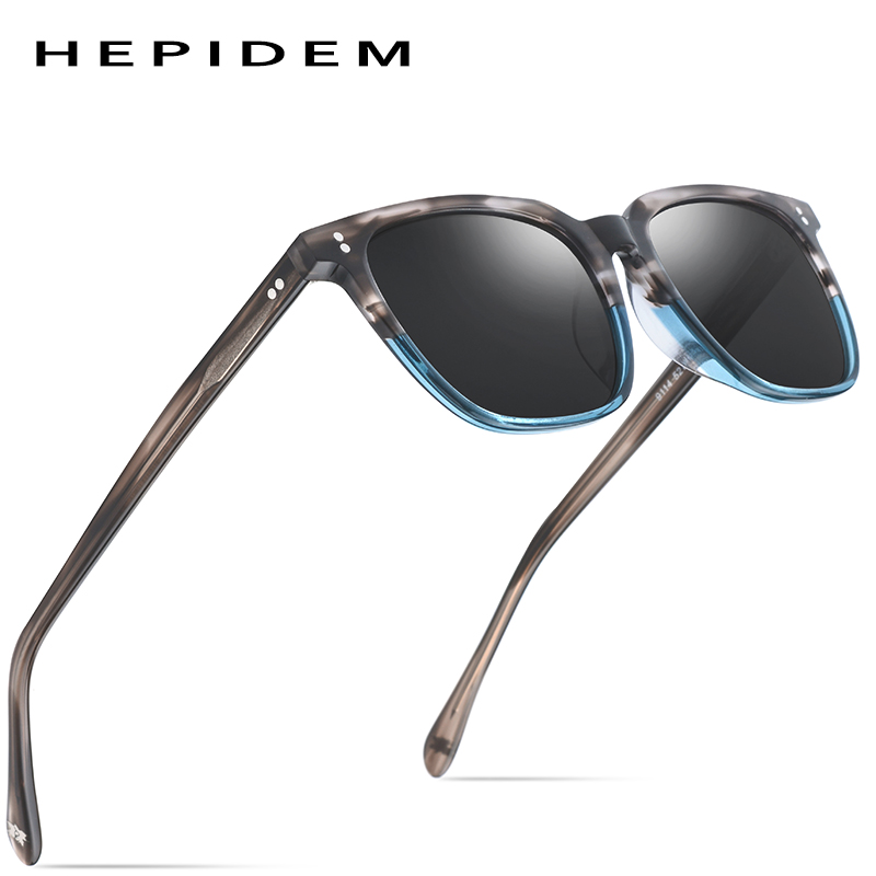 Acetate Polarized Sunglasses Men 2019 New High Quality Vintage Square Sun Glasses for Women Men's Korea Goggles Sunglass 9114-in Men's Sunglasses from Apparel Accessories