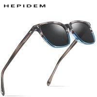 Acetate Polarized Sunglasses Men 2019 New High Quality Vintage Square Sun Glasses for Women Men's Korea Goggles Sunglass 9114