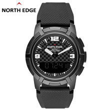 NORTH EDGE Men Sports Quartz Watches Altimeter Barometer Compass Thermometer Male Dual Display Watch Digital Climbing Wristwatch sunroad fr852 men digital sports watch thermometer altimeter barometer compass wristwatch