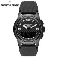 NORTH EDGE Men Sports Quartz Watches Altimeter Barometer Compass Thermometer Male Dual Display Watch Digital Climbing Wristwatch