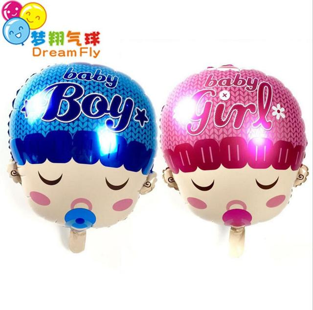 New Baby Bite The Pacifier Foil Balloons Baby Shower Decoration
