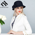 Noble Wool Fedoras Hat For Women Hat Fashion Bow-knot Cap Vintage Elegant Female Cap Brand Soft Girls Chapeu Wholesale