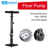 INBIKE Bike Pump with Gauge Bicycle Foot Pump 160PSI Schrader & Presta Portable IQ016