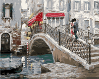 Frameless City Landscape Oil Painting By Numbers DIY Digital Pictures Coloring By Number On Canvas Unique