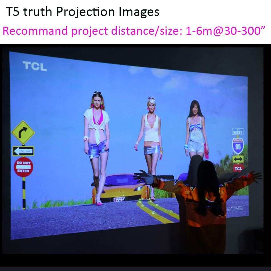 Image 5 - Smartldea T5 HD 4K Real 3D DLP Projector Battery with Zoom, Auto Keystone,Android 6.0 WiFi LED Smart Proyector Bluetooth Airplay-in LCD Projectors from Consumer Electronics