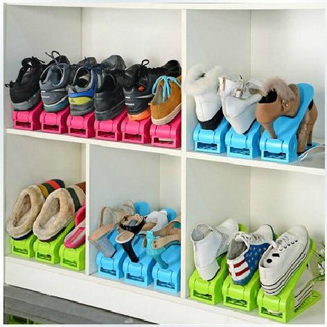2pcs Lot Shoes Rack Organizer E Saving Tree Stand Shoe Storage Holder Adjule