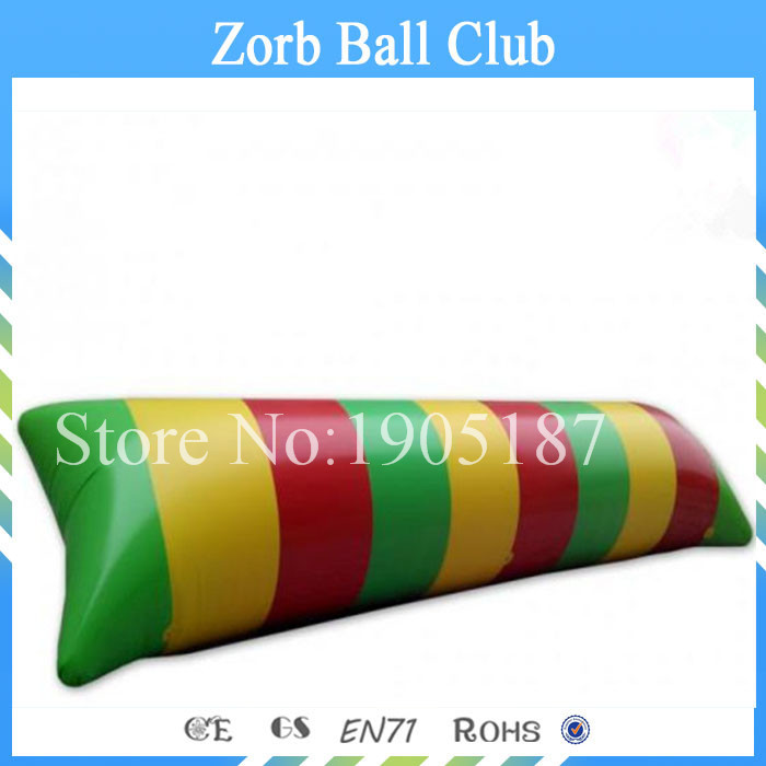 Free Shipping 9x3m 0.9mm PVC Tarpaulin Inflatable Water Blob/Water Pillow ,Water Jump Blob+ Repair Kits environmentally friendly pvc inflatable shell water floating row of a variety of swimming pearl shell swimming ring