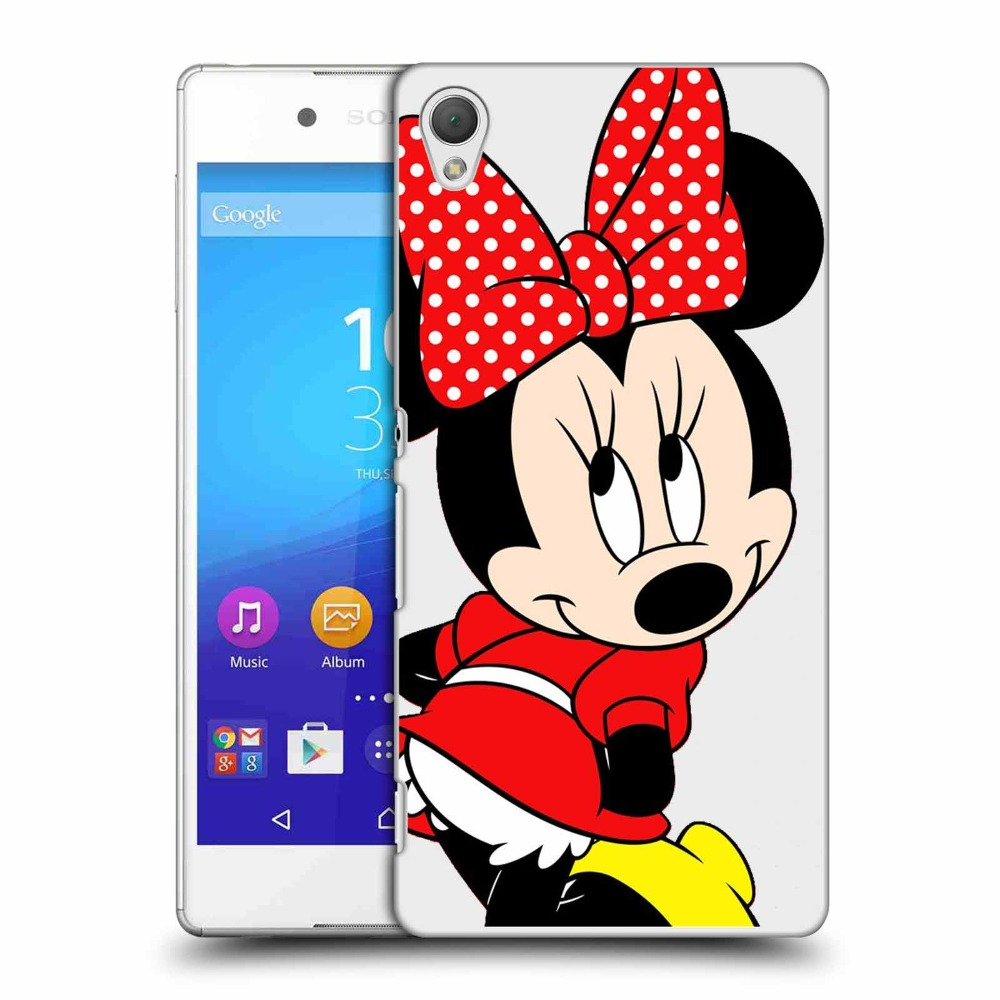 Emijo Cartoon Mickey Mouse mickey Minnie Transparent Hardcover Plastic Cover Cases For Sony ericsson Z1 Z2 Z3 Z4 Z5 cases