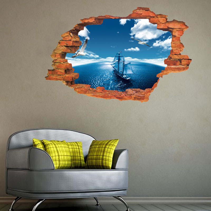 3d Wallpaper For Bedroom Price Blue Sky Child Room Wall Stickers For Kids Room Boy