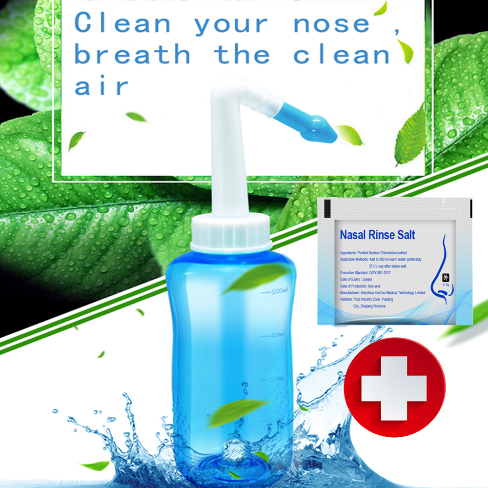 300ml 500ml Nasal Nose Wash Cleaner Nose Cleaning Pot Protector Cleans Moistens Child Adult Avoid Allergic Rhinitis Irrigator