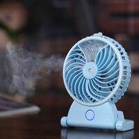 Mini USB Portable Handheld Humidifier Fan Rechargeable Water Mist Fans Air Conditioner Diffuser Ventilador Del Humidificador