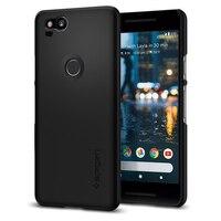 100 Original SPIGEN Google Pixel 2 Case Thin Fit Hard Back Cover Black F16CS22277