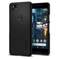 100 Original SPIGEN Google Pixel 2 Case Thin Fit Hard Back Cover Black F16CS22277