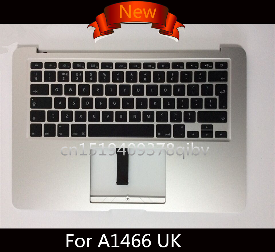 New UK Palmrest Topcase for Macbook Air 13.3 '' A1466 With UK keyboard No Touchpad No Backlit 2013 2014 2015 2016 spanish latin laptop keyboard for sony vaio svp1321ecxb svp1321ggxbi svp1321hgxbi svp1321zrzbi sp la palmrest backlit touchpad