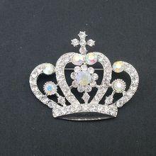 Высокое качество новый красивый AB красочные драгоценности короны горный хрусталь контактный брошь для свадьбы ну вечеринку, Пункт : BH7104