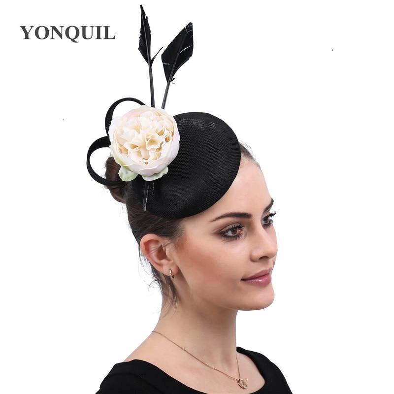 Flower Feather Bead Fascinator Hairband Clip Ladies Women Wedding Races Party UK