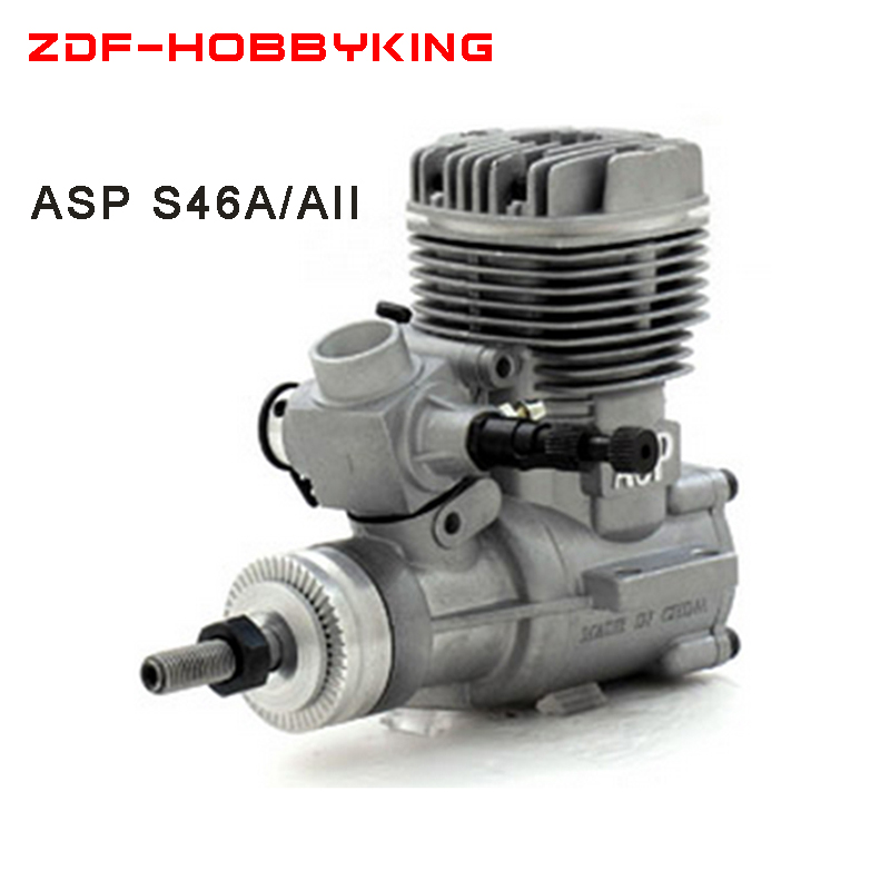 Free shipping ASP Nitro Engine S46A/AII 46A 7.5CC methanol engine Two Stock for airplane Recommend Prop11X6 12x5 RPM2000-18000