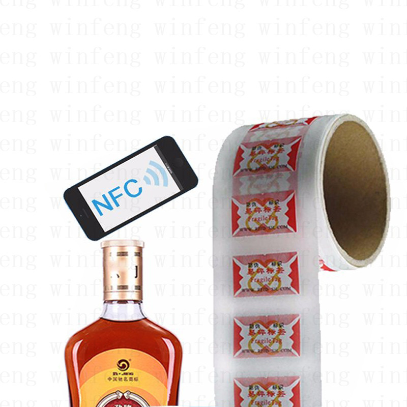 2000pcs/lot Customized One Time Use Disposable RFID Fragile Tag  Anti-Theft RFID Tamper Proof Tag for Bottle Wine Tracking hw v7 020 v2 23 ktag master version k tag hardware v6 070 v2 13 k tag 7 020 ecu programming tool use online no token dhl free