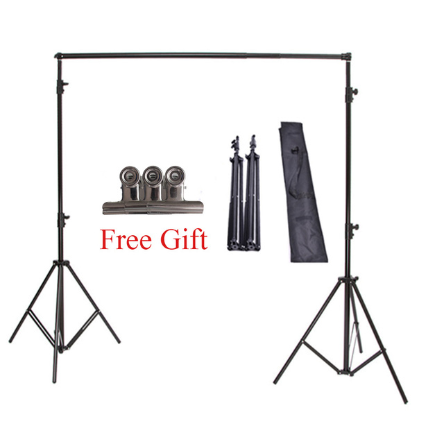 High Quality 2x2M Studio Professional Photography Photo Backdrops Background Support System Stands + Carry Bag Free Shipping